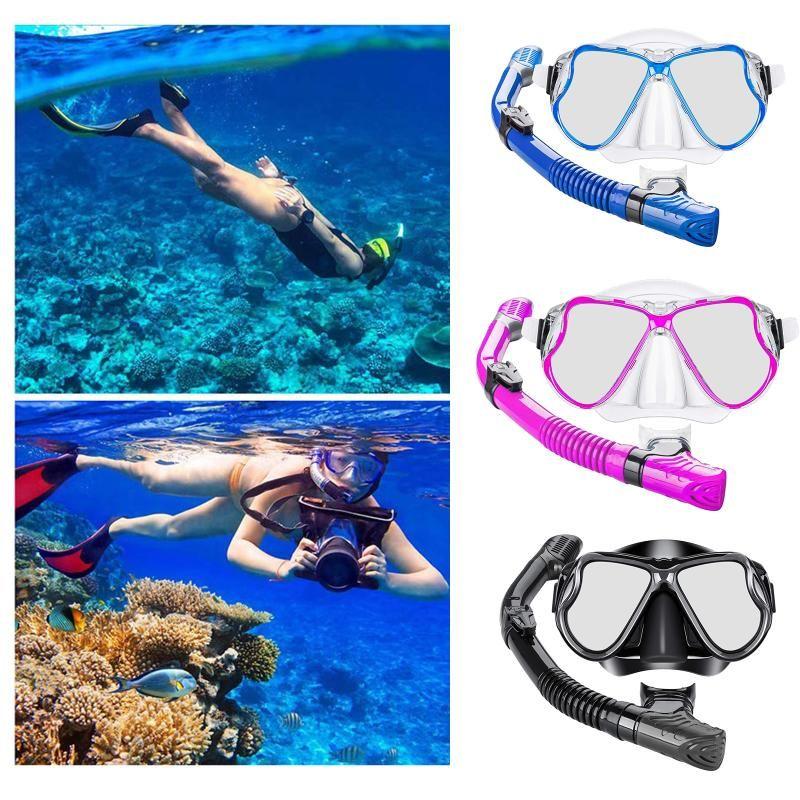 Snorkel Snorkel Tubo de Engrenagem Scuba Snorkeling Spearfishing Pacote Máscara De Máscara De Máscaras De Mergulho