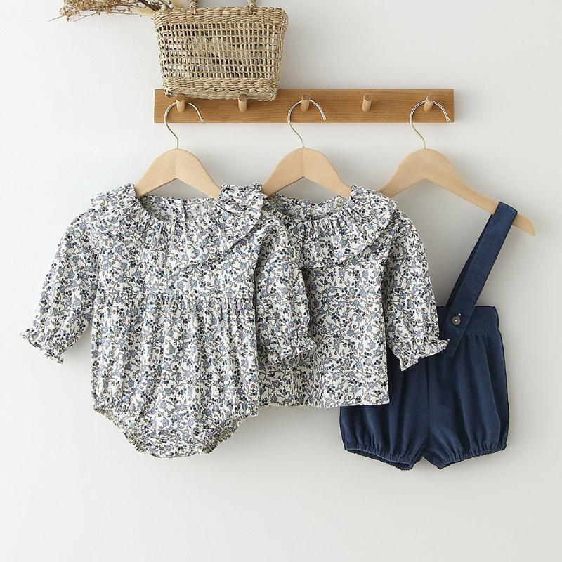Abbigliamento Set Baby Girl Vestiti Set 0-2 anni Toddler Girls Rompere in cotone + Pantaloni corti complessivi 2 pezzi Abiti