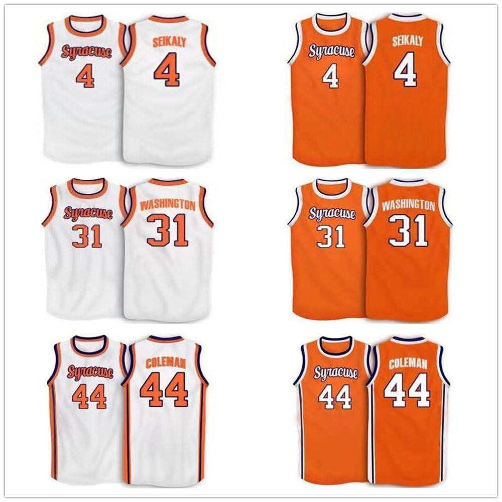 30 Billy Owens 31 Dwayne Pearl Washington Syrakuse orange 4 Rony Seikaly 44 Derrick 1991 Herrenstickerei genäht Basketball Jersey Benutzerdefinierte