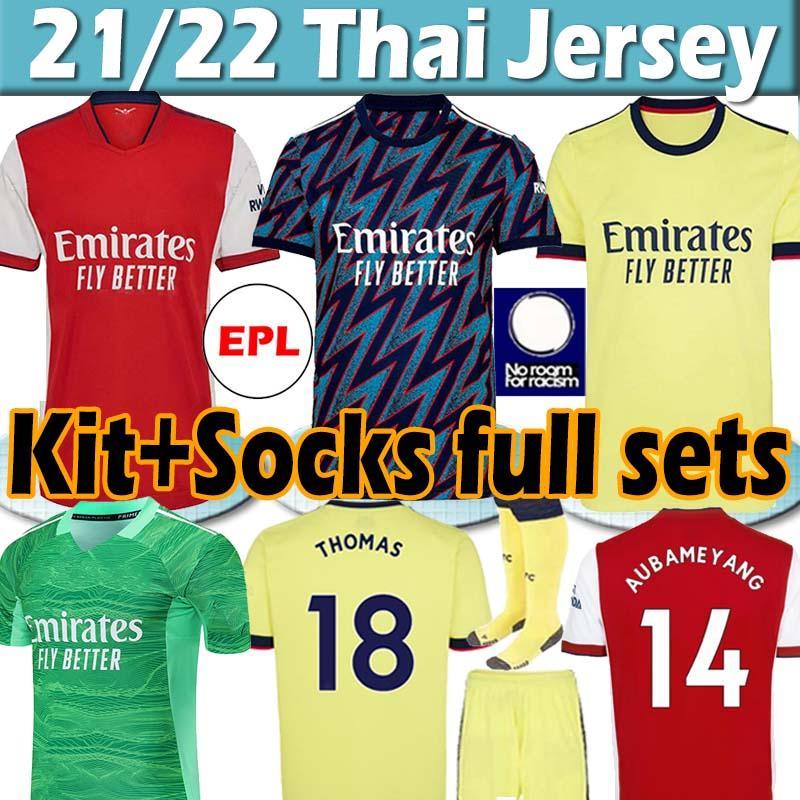 Версия Fans Player Футболка Arsenal Gunners 20 21 PEPE SAKA THOMAS WILLIAN NICOLAS CEBALLOS GUENDOUZI TIERNEY Футболка 2020 Мужская + детская форма Униформа