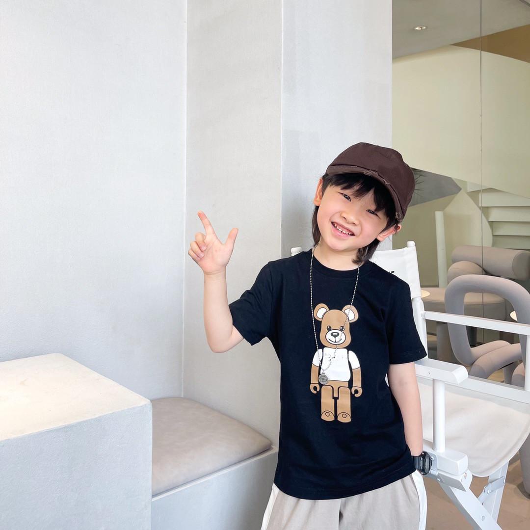 لطيف الطفل تي شيرت الملابس 2021 أطفال بنين بنات الكرتون القطن تي شيرت الصيف الأطفال قصيرة الأكمام تيز