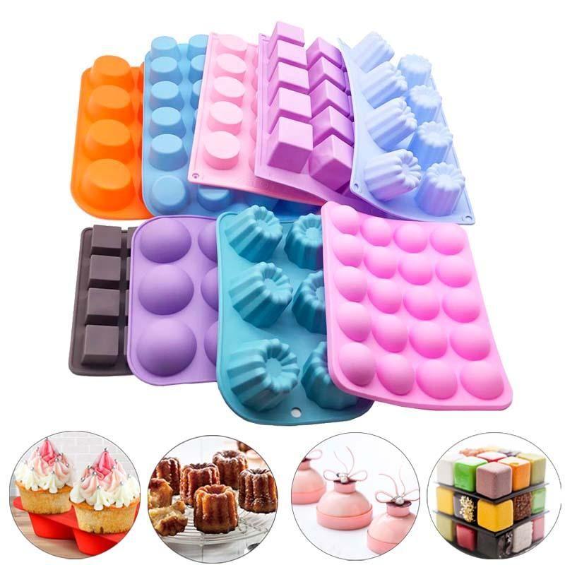 أسطواني الكرة سيليكون العفن الشوكولاته كعكة ديي أداة الخبز أدوات تزيين العملي قوالب