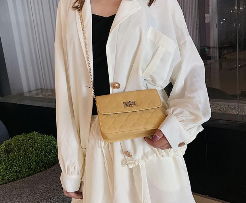 Female fashion chain slung small square bag chain small bag