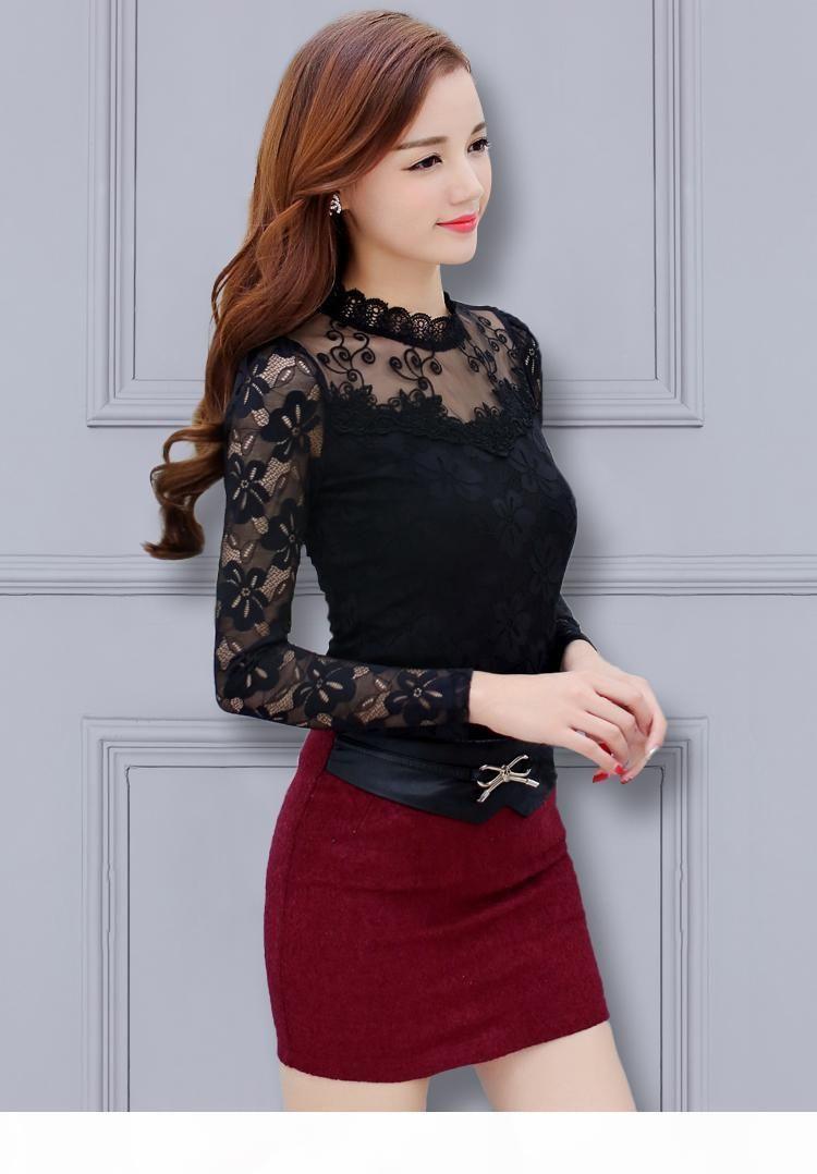 Wholesale-women tops plus size embroidery lace blouse white blouses with ruffles camisas com renda big sizes 3xl 4xl xxxl xxxxl