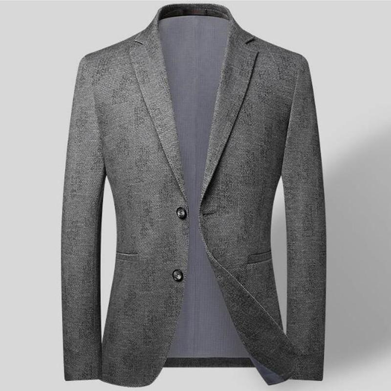 Uomini Casual Blazer Blazer Primavera Autunno Suit Blazer Moda Abbigliamento maschile
