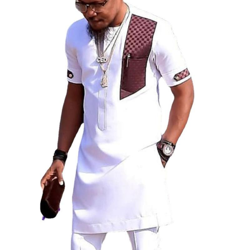 Dashiki Shirts Mens Fashion Africa Clothing Pullovers African Clothes Hip Hop Robe Africaine Casual Dresses 2021 Ethnic