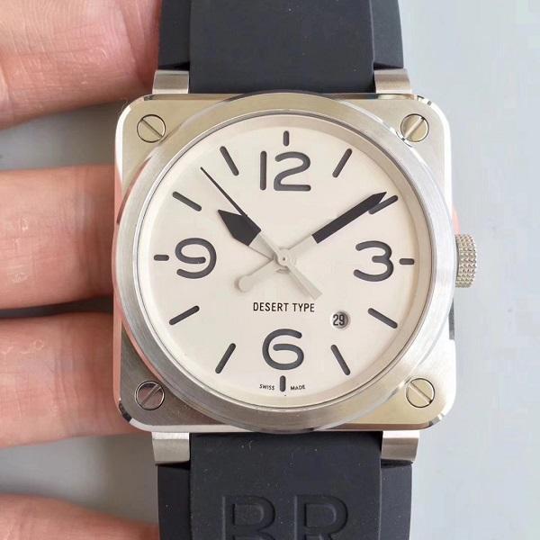 42 мм мужские часы высочайшего качества автоматические Miyota 9015 Движение BR03-92 BR03 03-92 водонепроницаемый сапфир мужской наручные часы мужа подарок