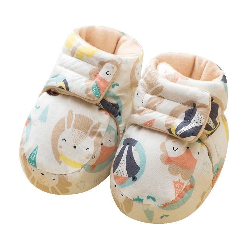Plus samt dicke babyschuhe geborene schuhe warm herbst und winter junge mädchen socken 0-12 monate schlafende baumwolle schuh abdeckt erste wanderer