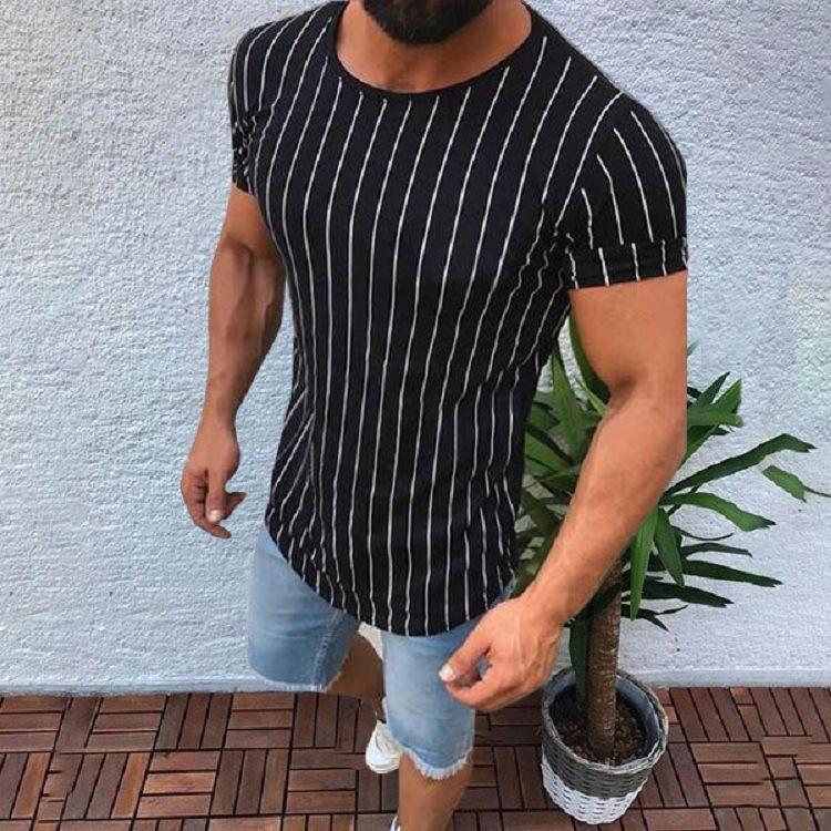 Designer Short O Men Slim Fit Tops Tops Envío Casual Tee Marca Sleeve Shirts Camiseta Muscular Camiseta Moda Blusa Libre Cuello RBSHO