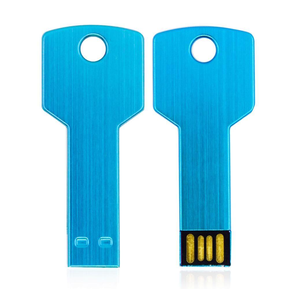 Metal Key USB Flash Drive 32gb 64gb 16gb 8gb 4gb 2gb 1gb USB2.0 Pen Drives Memory stick