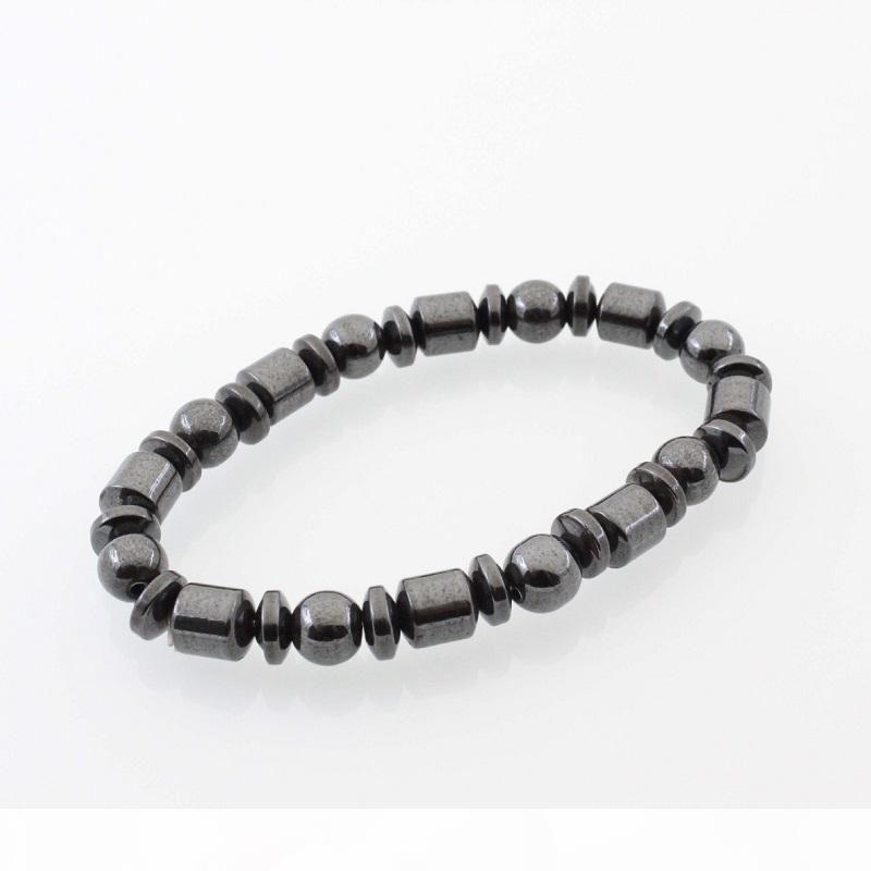 Hot Selling New Beautiful Popular Black Stone Magnetic Magnet Bracelet Hematite Bracelet Black Stone Magnet Bracelet HJ175