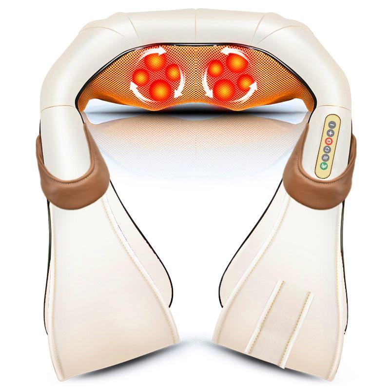 Электрические шеи массажер релаксационные процедуры обратно тело Shiadsu замешивать инфракрасный нагрев массаж здравоохранения автомобильный офис