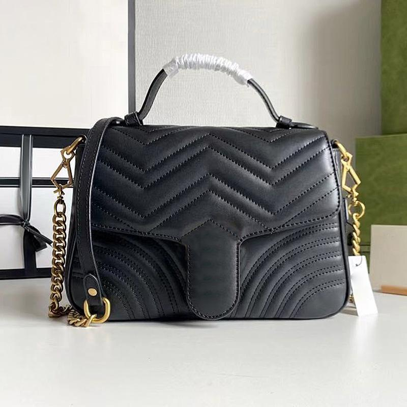 Cowhide luxurys designers sac 2021 Summer Fashion Love Double-G Dernier design Womens Epaule Handbags Handbags en cuir véritable