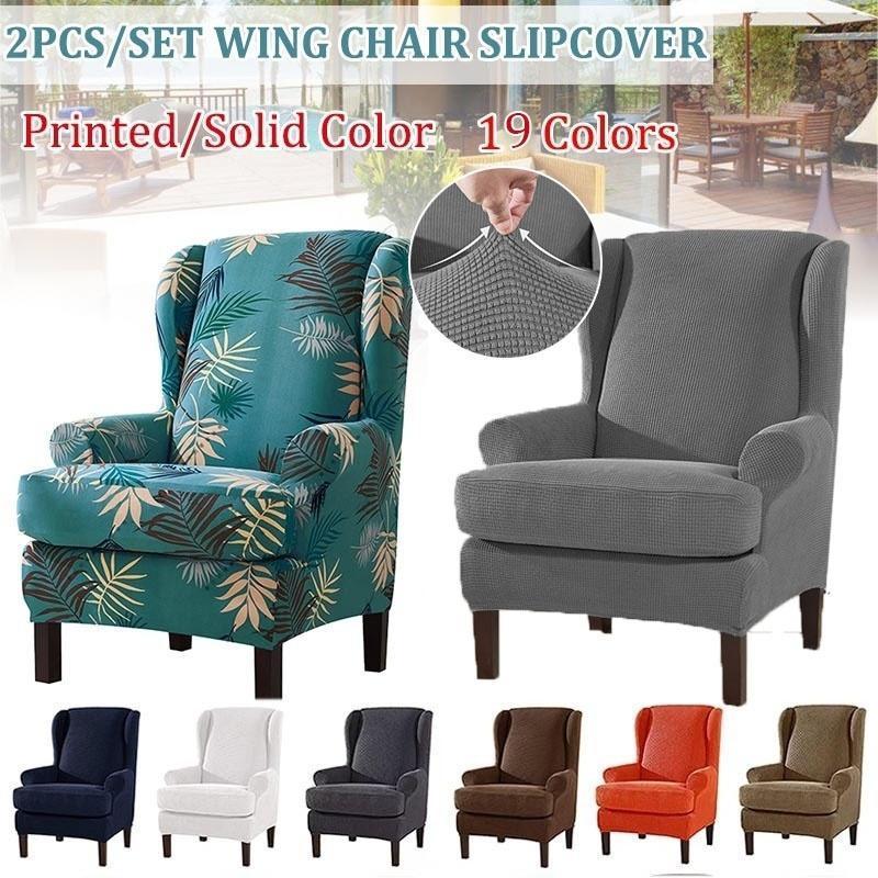 Sandalye Kapakları 2 adet / takım Evrensel Koltuk Kanat Kanepe Kapak Streç Koruyucu Ev Oturma Odası için Spandex Mobilya Dekor