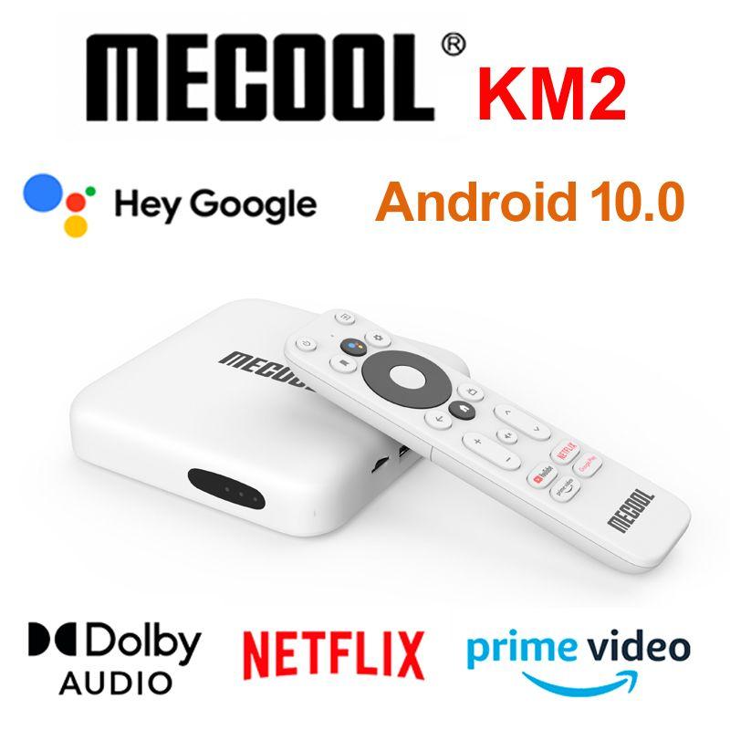 Mecool KM2 Android 10.0 TV Box Netflix Google Certificated ATV TVBOX Amlogic S905X2 2GB DDR4 USB3.0 SPDIF 2.4G 5G Dual WiFi HDR 10 Widevine Bluetooth IR Remote