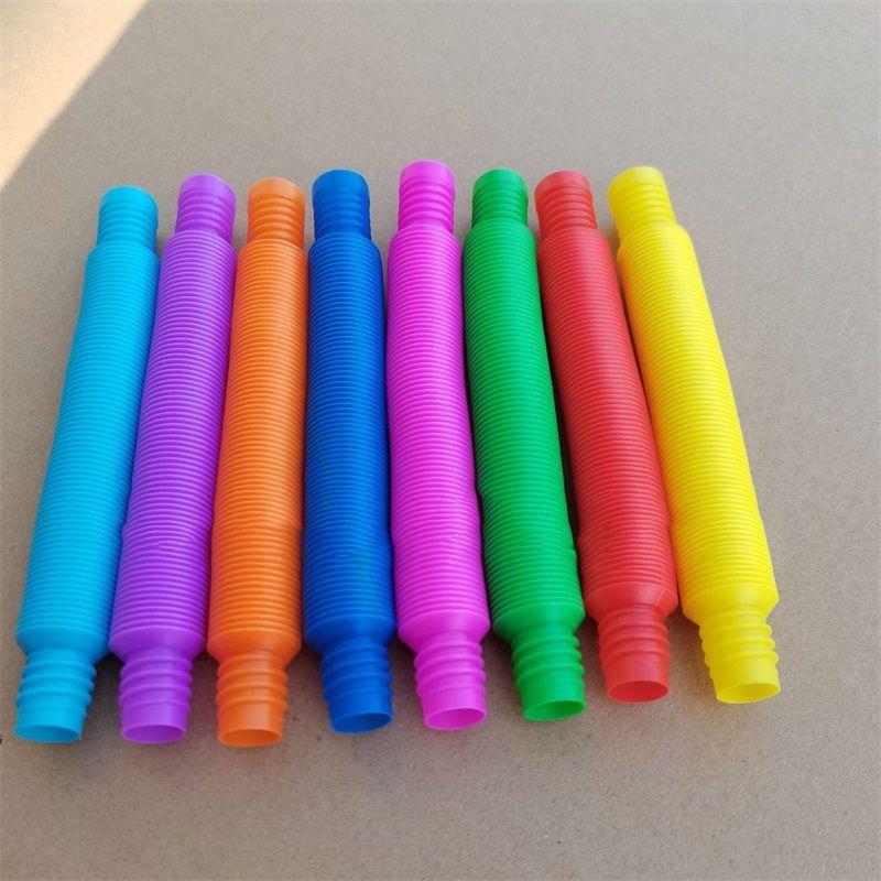 Favorito Favor PoP Pop Tube Fidget Sensory Toy Decompression Estreno Telescópico Telescópico para niños adultos Tubos de Telescopio Twist Finger 0 9FD Y2