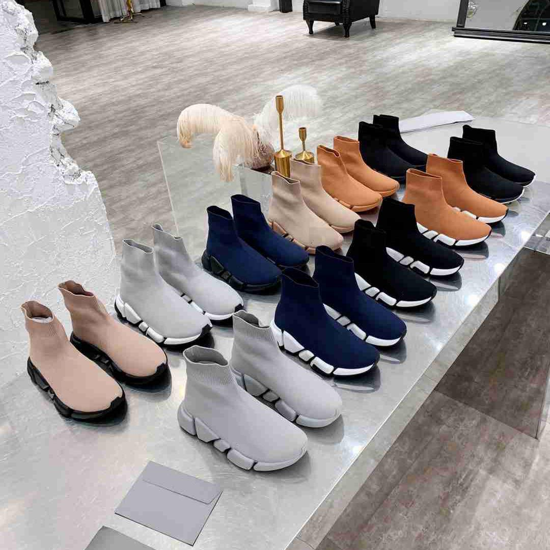 Homens mulheres de malha meias sapatos moda senhoras plataforma sneakers top designer casais corredores treinadores sapato homem sneaker