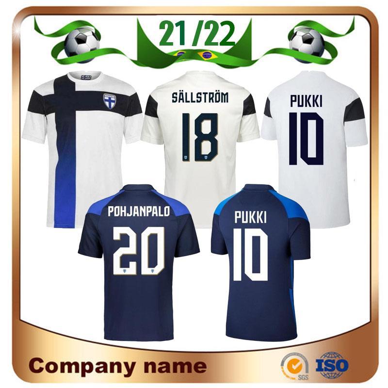 2021 فنلندا لكرة القدم الفانيلة 21/22 الصفحة الرئيسية Pukki Skrabb Raitala Pohjanpalo Kamara Sallstrom Jensen Lod فريق كرة القدم القمصان موحدة