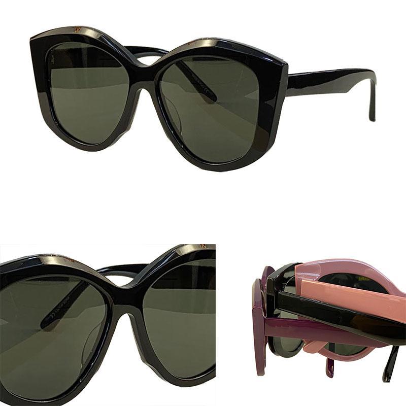 Kadınlar için Güneş Gözlüğü Yaz Stil 0126S Anti-Ultraviyole Retro Plaka Tam Çerçeve Moda Gözlük Rastgele Kutu