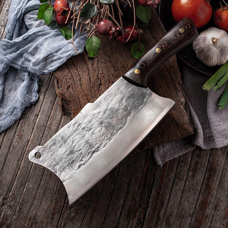 Schneidekochkochküche Messer gehämmert Chopper Messer Mangan Edelstahl Chinesisches Sushi Sashimi Cleaver Werkzeug