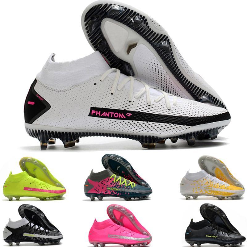 Mid Cut Phantom GT Elite AG-PRO Acredite Homens Sapatos Verde Black Football Boots Futebol Cleats