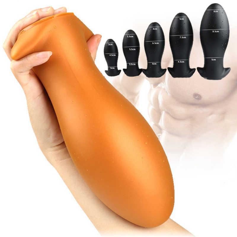 Juego de adultos Super Enorme Líquido Silicona Anus Dialttor Anal Enchufe Toys Sex Toys Para Mujeres Hombres Prostate Massager Vagina Butt Plug Big Dildep0804