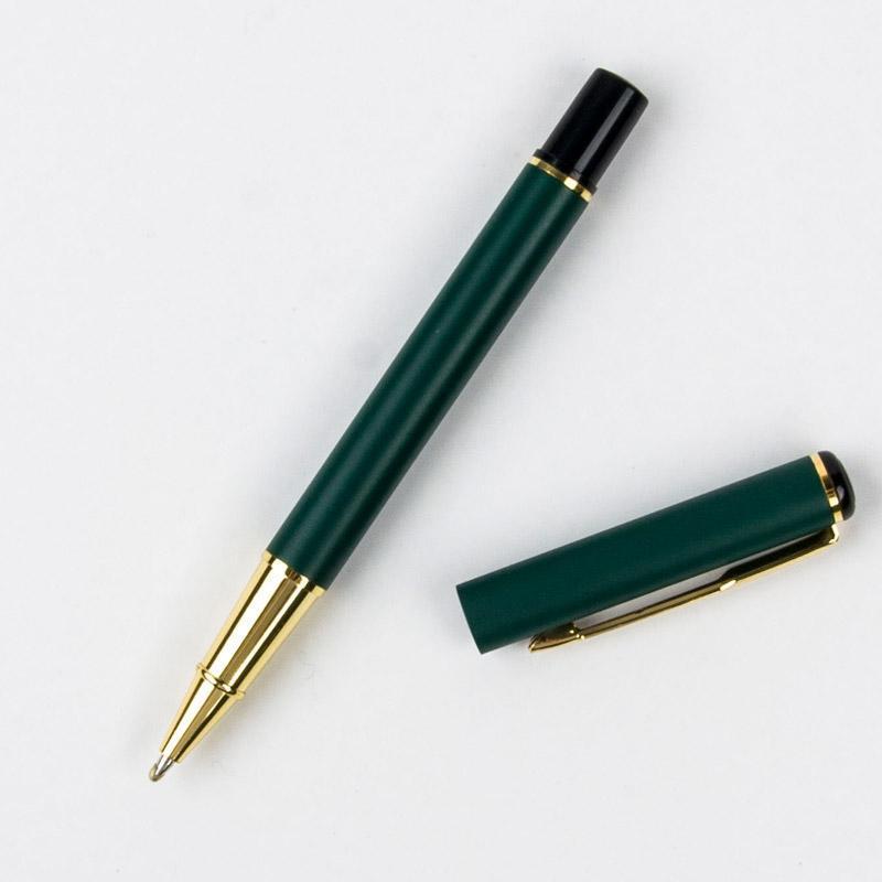 هلام أقلام قلم حبر جاف معدني. علب الهدايا عالية الجودة مكتب الأسطوانة الكرة القلم القرطاسية مدرسة الكتابة هدايا القلم
