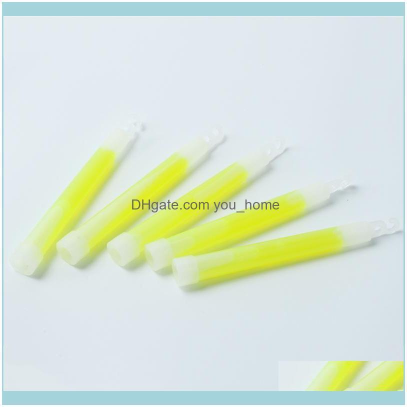 Event Festive Party Supplies Home & Gardenparty Decoration 5Pcs Plastic 15Mm Thick Green Light Up Glow Sticks With Hook Camping Lights Conce