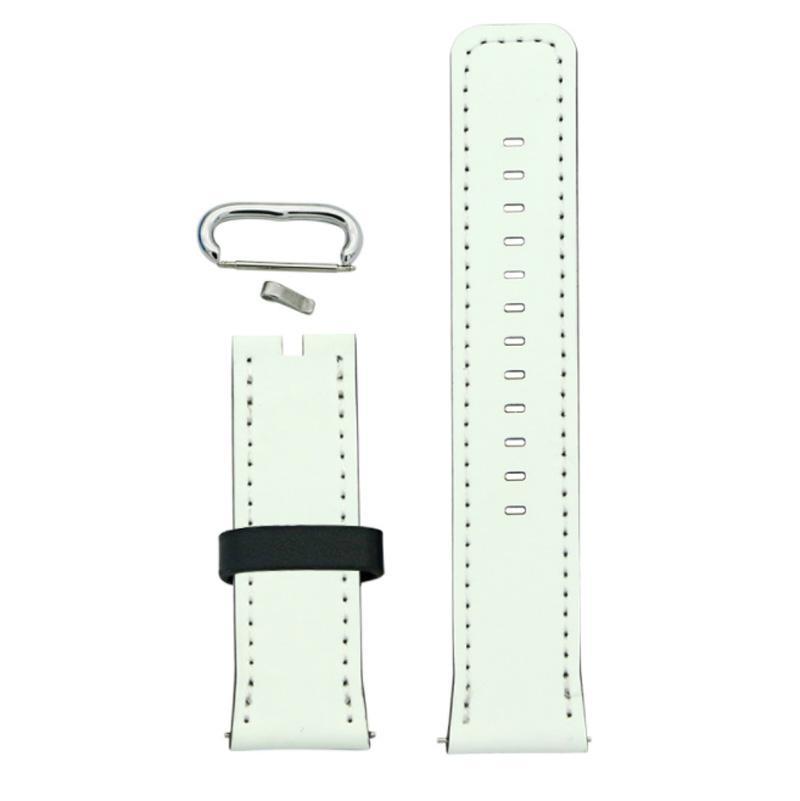Banda di orologio in pelle PU in bianco di sublimazione per Apple 50 pezzi / lotto