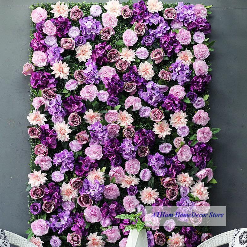 لافندر استحى زهرة مجلس مصنع الاصطناعي 3d جدار خلفية الزفاف pos للانترنت المشاهير الهياج الزخرفية الزهور