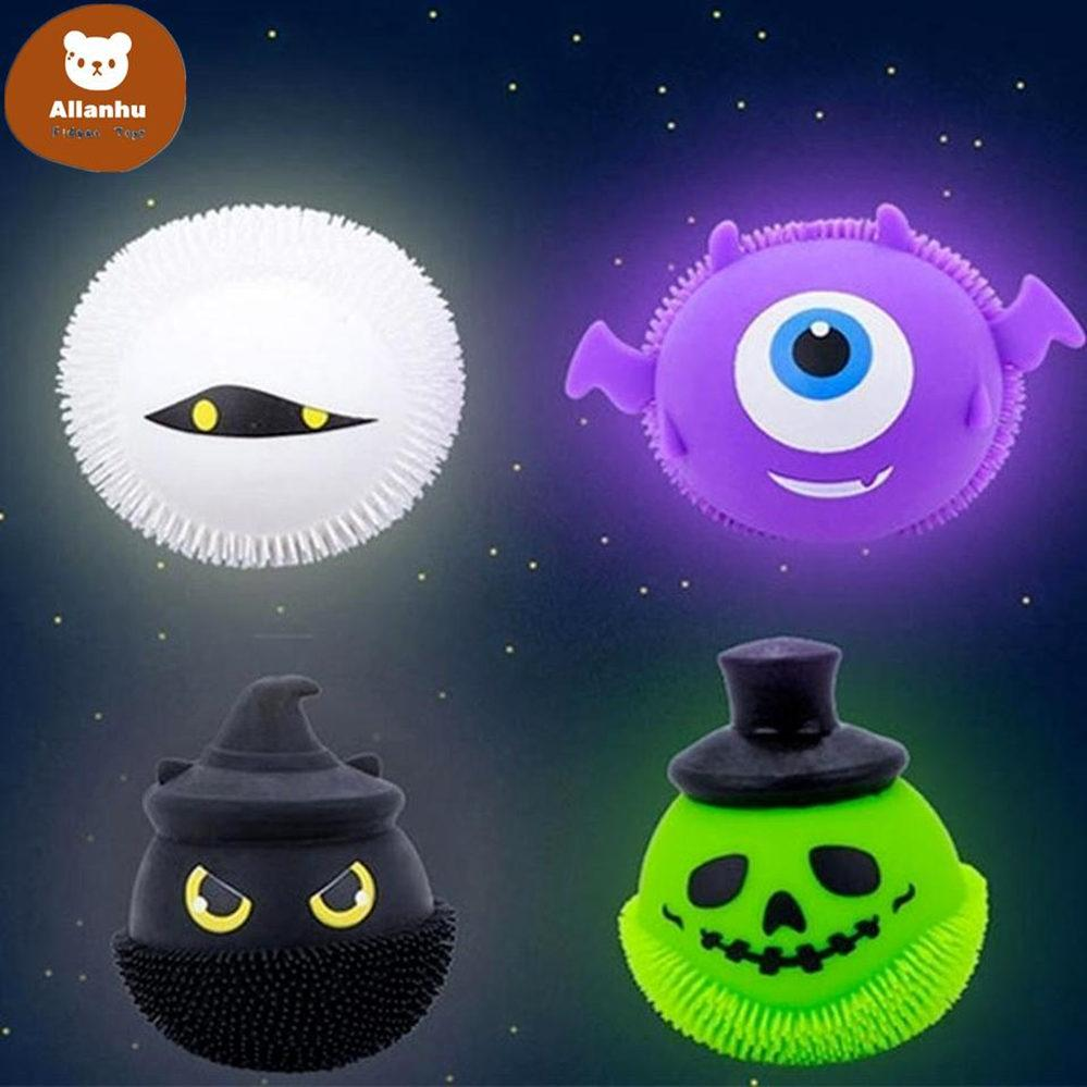 Decompressie Fidget Toy Glowing Halloween Little Devil Pinch Music Ball Spoof to Vent Adult Toys Factory Groothandel