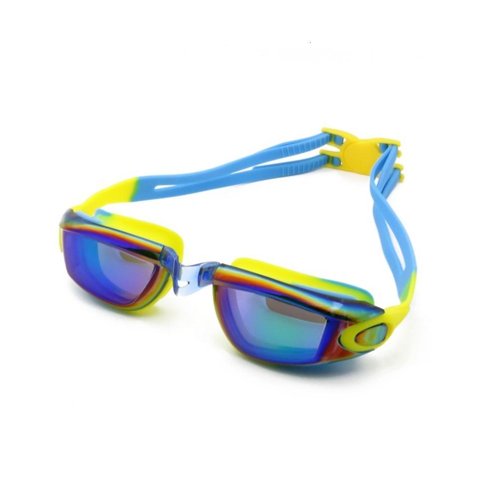 Goggles Kinder UV-Schutz wasserdicht -FoG-Linsensilikon-Rahmenkind-Eywear-Schwimmbad-Zubehör