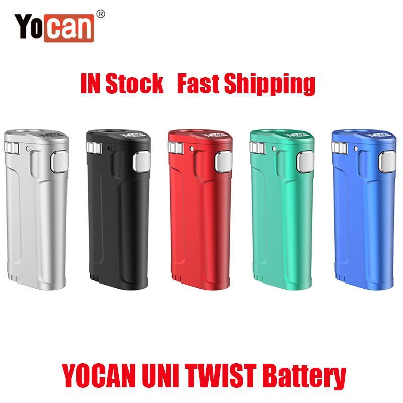 Оригинальный yocan Uni Twist Box Mod 650 мАч предварительно нагрев VV аккумулятор для 510 толстого масла Vape все ширины картридж распылитель тележки ECIG VS UNI S Pro 100% аутентичные