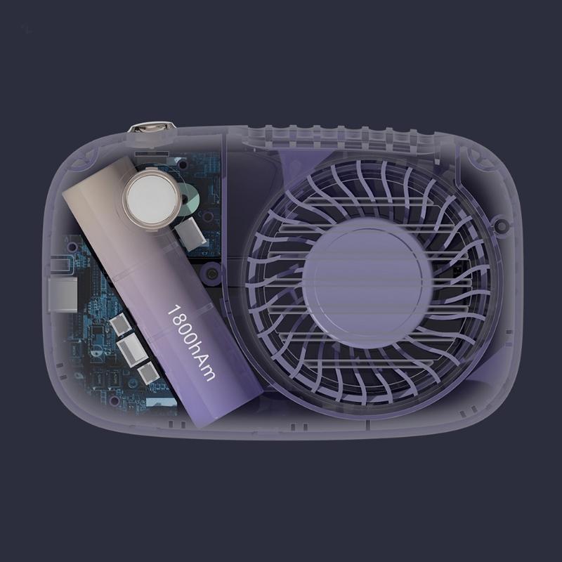 Ventilateurs électriques R2JD Portable Portable Caméra mignon en forme de poignée de refroidisseur mini-refroidisseur d'air Petits outils de refroidissement personnel pour le bureau de voyage de bureau à domicile
