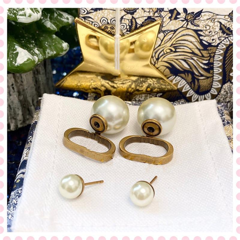2021 패션 여성 귀걸이 쥬얼리 LuxUrys 디자이너 샹들리에 귀걸이 스터드 진주 925 Des Boucles D 'Oreilles Dangle 21041404DQ