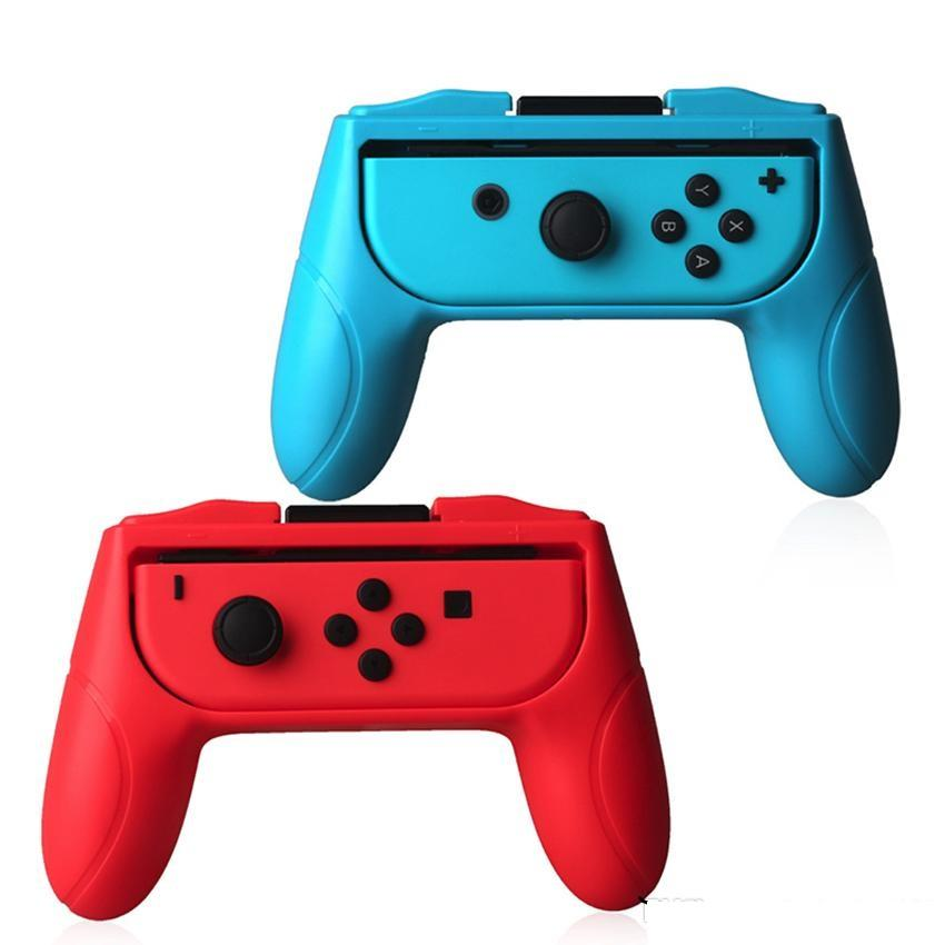 Grips Cases for Nintendo Switch Joy Con Controller Set of 2 Handle Comfort Hand Kits Stand Support Holder Shell case