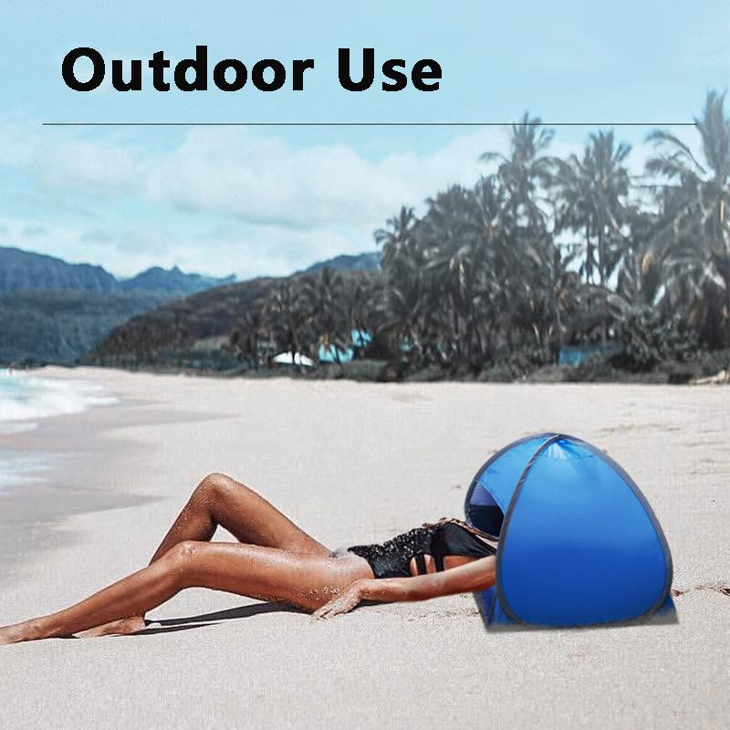 Camping al aire libre playa sol sombra tienda portátil protección UV Pop Up Cabana Shelter Infantil Arena
