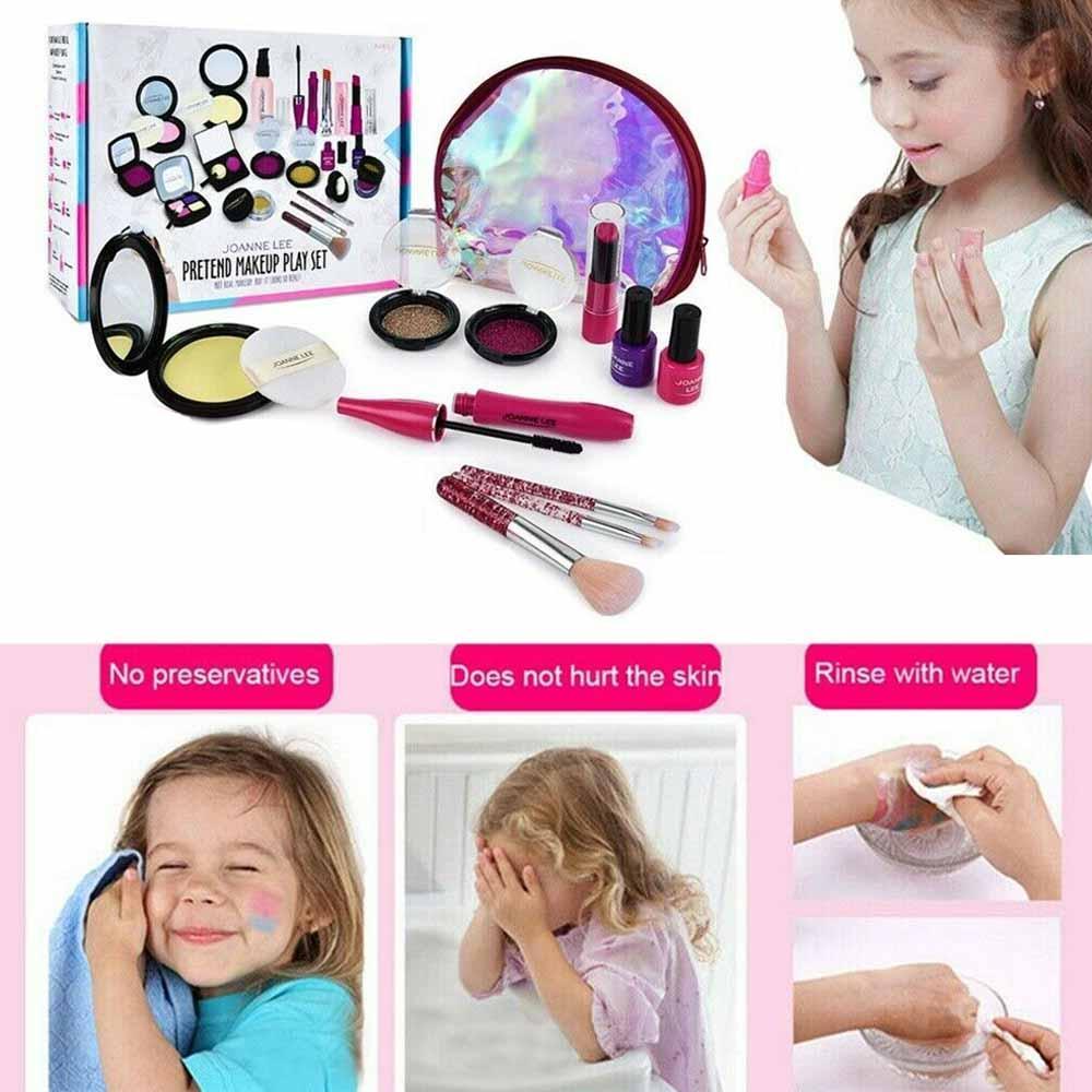 Conjunto de maquillaje para niños Salon Cosmetics Make Up Set For Girls Pretend Play Make Up Toys for Child Kids Princess Dress Up Princess