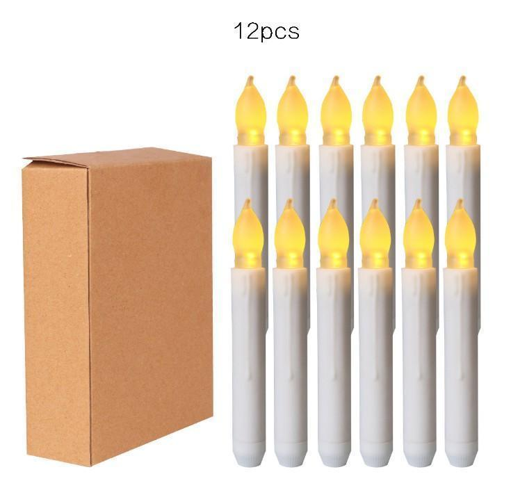 Décor Home & Garden Drop Delivery 2021 Yellow Mini Battery Operated Led Candles, Flameless Taper Candles For Wedding Decorations,Christmas, T
