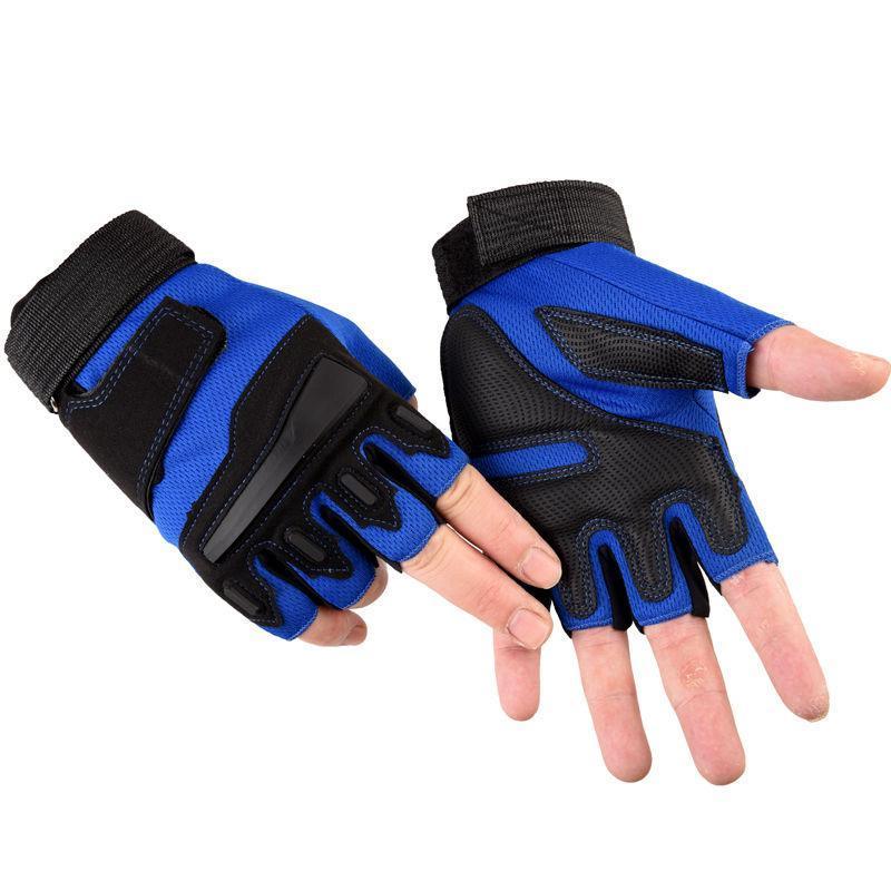Велосипедные перчатки Тренажерный зал Хуперящие Спортивные Упражнения Тренажеры Тренажеры Тренажественная Половина Палец Корпус Обучение Спортивная тренировка для Унисекса