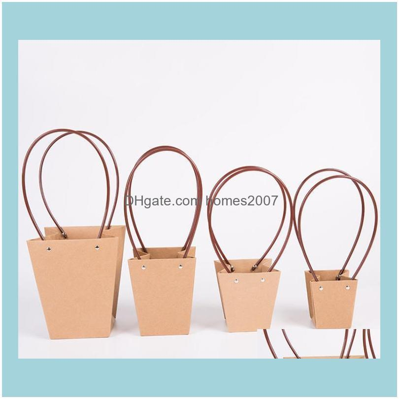 Wrap Event Festive Party Home & Gardenkraft Paper Bag Diy Valentines Day Flower Wrapping Gift Packing Box Bouquet Florist Supplies Wedding D