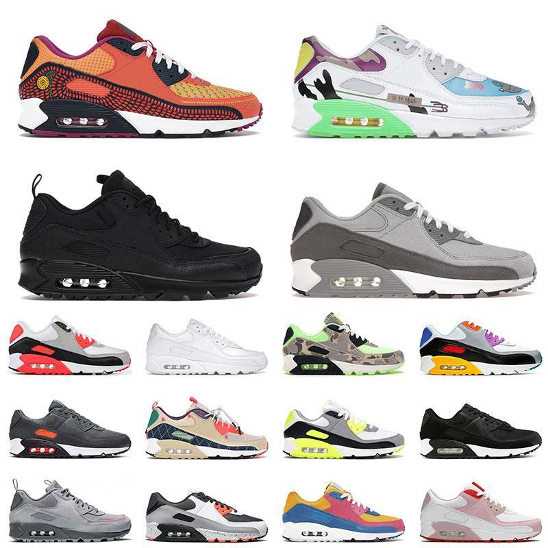 90 shoes Herren Damen Laufschuhe Flyleather Light Smoke Grey Größe 12 Surplus Black Valentines Day Trail Team Gold Court Lila Trainer Sneakers