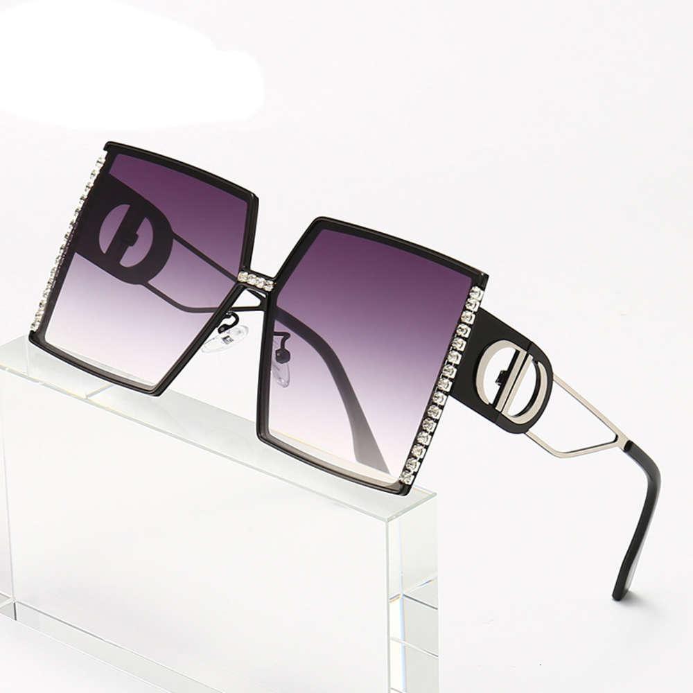 Marke Designer Sonnenbrillen Übergroße Frauen Luxus Street Herren Vintage Square UV400