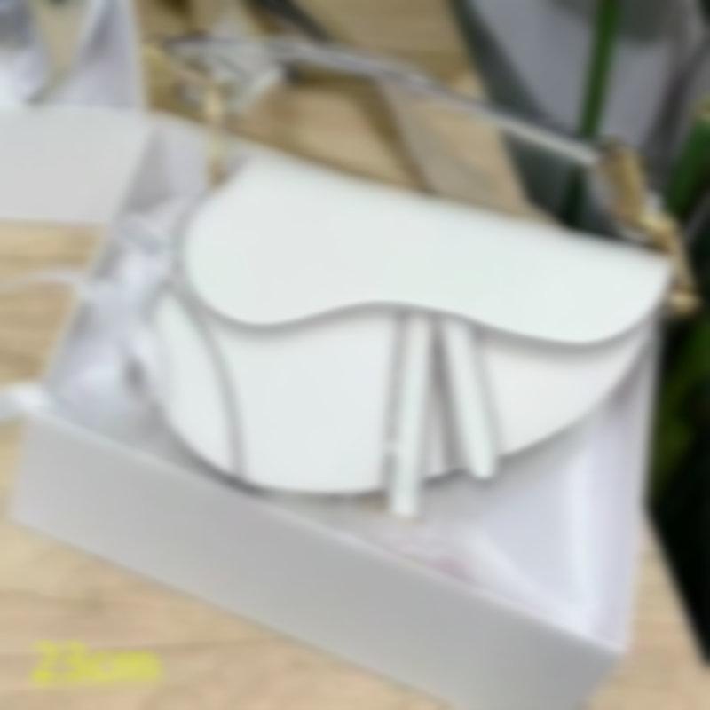 الفاخرة النساء سرج الأزياء الأسود حقائب الكتف مصممي حقيبة crossbody سيدة السروج الأبيض المحافظ الكلاسيكية D21012701