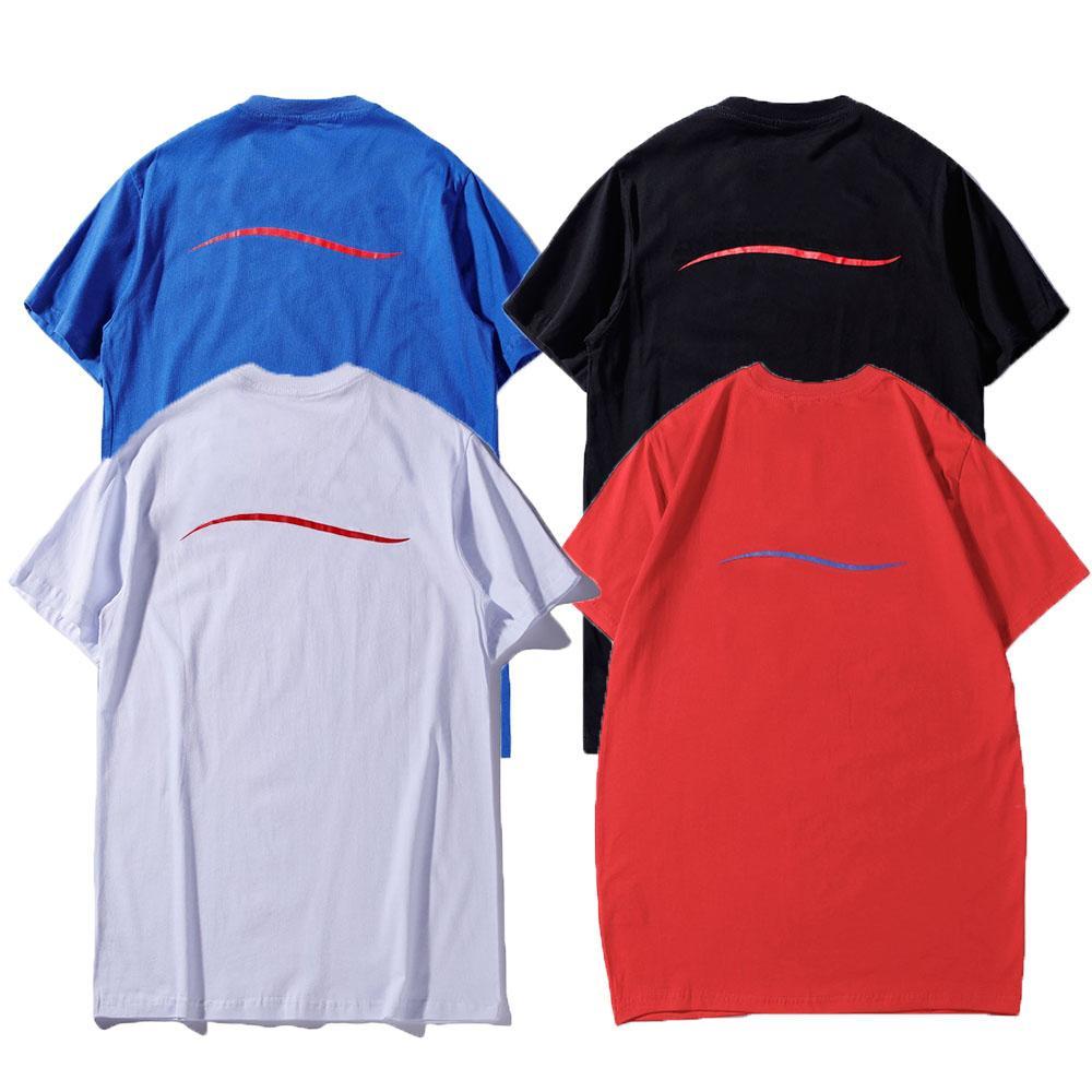 Moda das mulheres camisetas Casual confortável simples padrão de manga curta mulheres esportes tops t-shirt do verão tripulação de verão onda de pescoço homens 2021