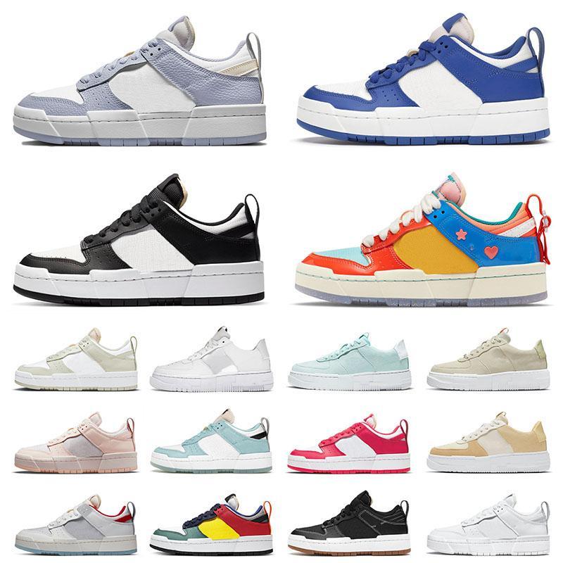 Nike Dunk Low Disrupt Air Force 1 Airforce One AF1 Pixel Off White Dunks الرجال النساء أحذية الجري بالكادثة شبح لعبة الملكي الأسود شاحب العاج الرياضة أحذية رياضية المدربين  أحذية