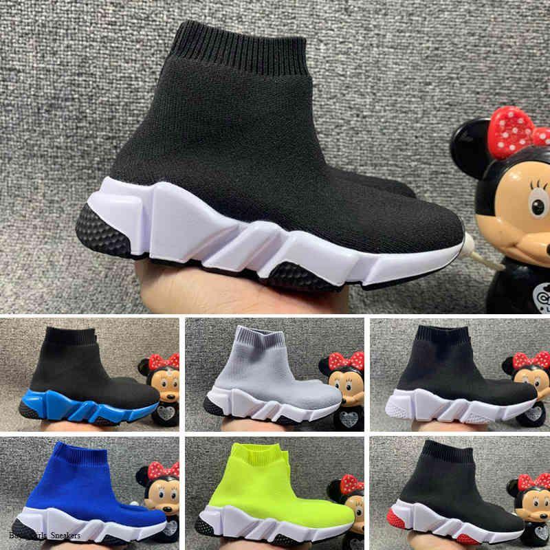 Ragazza Scarpe per bambini Ragazzo Slip on Shoes Shoes Sunk Boot Scarpe Bambini in esecuzione Sport Sneakers Moda Stivali da calcio Dimensione EUR 24-35