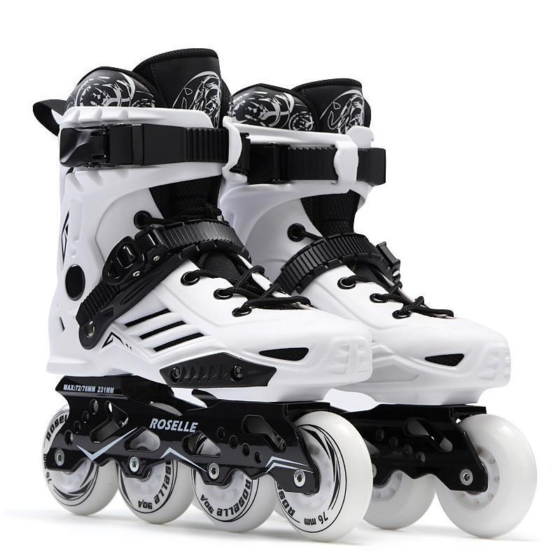 Professionnel Inline Speed Skates Chaussures Baskets Rouleaux Rouleaux Femmes Men pour adultes Patins