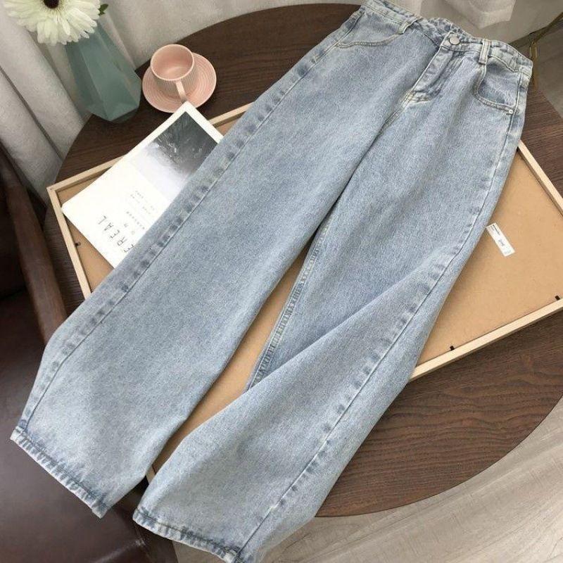 Jeans a vita alta e allentati ed eleganti a vita alta per le grandi dimensioni, mm grasso, magro, versatile capris con gambe larghe