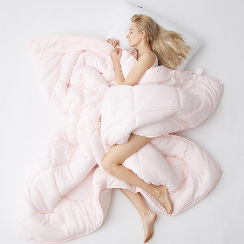 High Quality Winter Comforter Luxury Soft Warm Blanket Multicolor Choose 100% Feather Fabric Quilt Duvet King Queen Twin Size Comforters & S